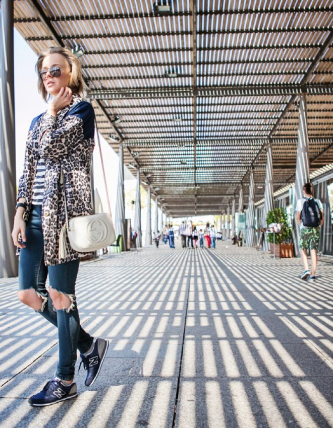 BARCELONA: FIRST DAY IN LEOPARD, STRIPES AND RIPPED JEANS