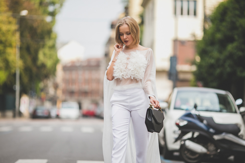 darya kamalova russian italian fashion lifestyle blogger in milan for mfw wearing uel camilo jumpsuit m2malletier bag and gucci heels on dsquared and just cavalli shows-4473