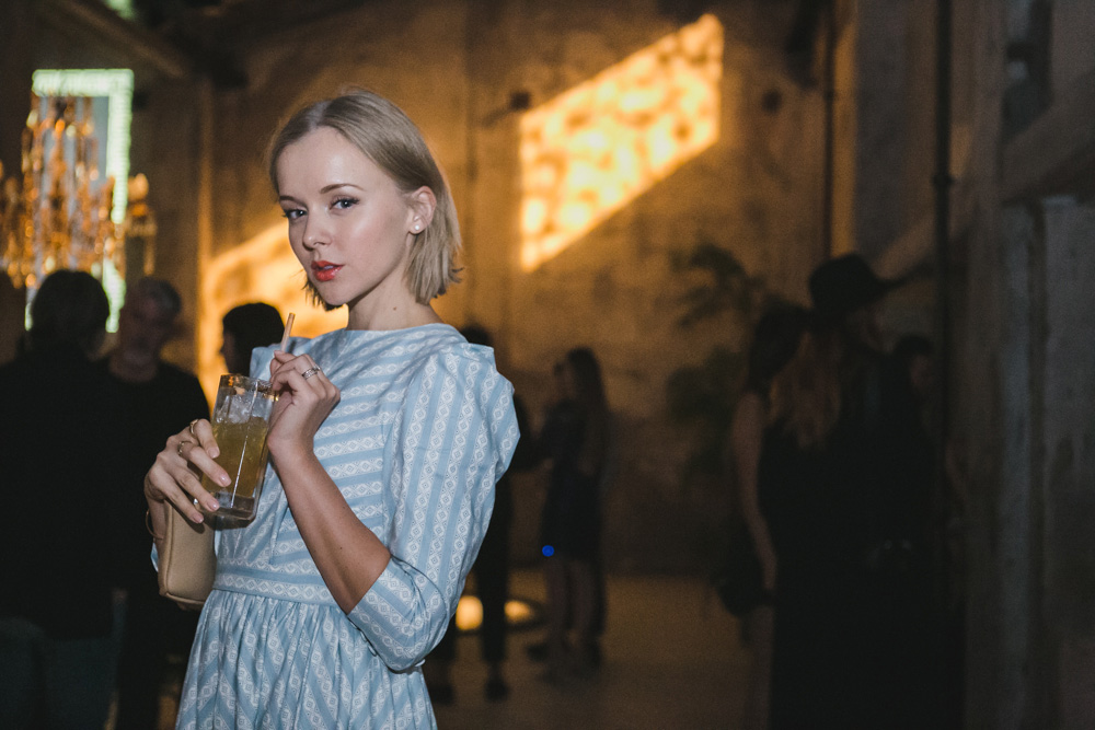 darya kamalova thecablook com russian italian fashion lifestyle blogger in milan disaronno wears versace event in segheria in rafinad dress marni clutch jimmy choo choes-4589