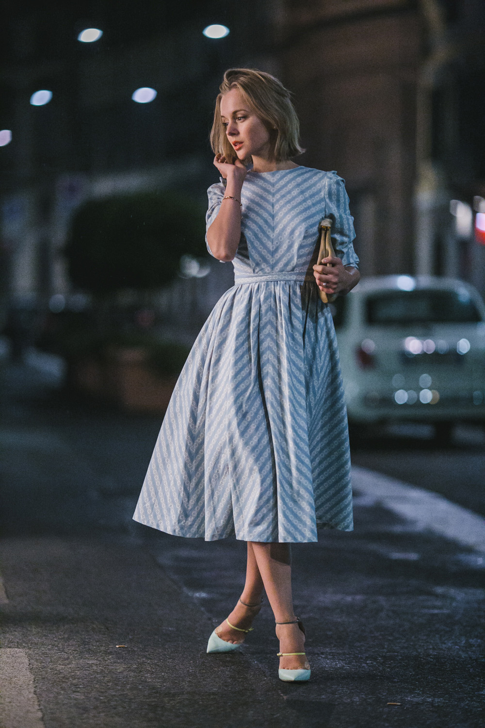 darya kamalova thecablook com russian italian fashion lifestyle blogger in milan disaronno wears versace event in segheria in rafinad dress marni clutch jimmy choo choes-4807