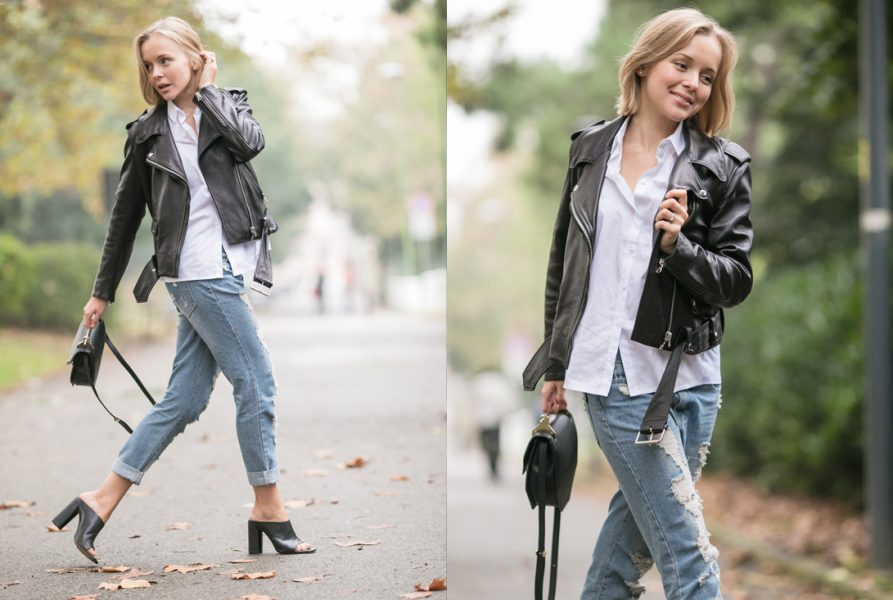 OUTFIT: ACNE MAPE LEATHER JACKET